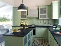Кухня Манчестер Фисташка с островом