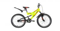 Подростковый горный (MTB) велосипед Novatrack Shark 20 1 (2020) Салатовый (140672)