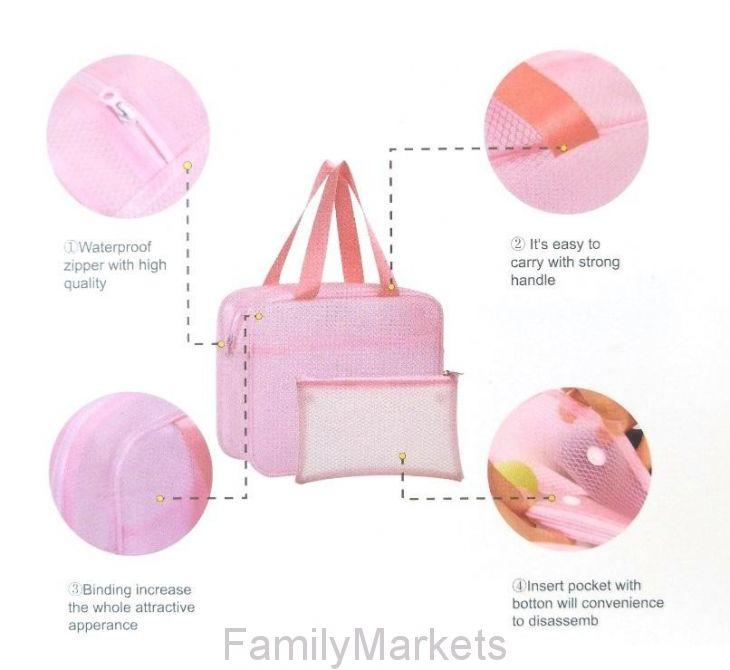 Водонепроницаемая пляжная сумка с двумя карманами Beach Bag