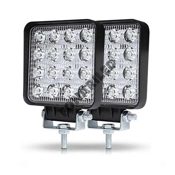 Светодиодные фары KB16M-48W FLOOD комплект