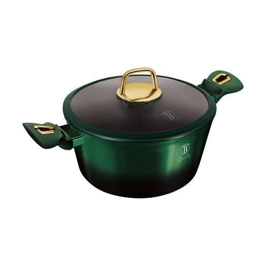 BH-6058 Emerald Collection Metallic Line Кастрюля с крышкой 24см