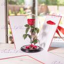 """Роза в колбе красная 33 см """"Standart"""""""
