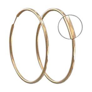 Серьги конго из золота с алмазной гранью 140135 SOKOLOV
