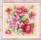 """Фото набор для вышивания Чудесная игла """" Магия цветов. Пионы"""""""