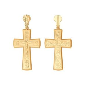 Крест из золота 121307 SOKOLOV