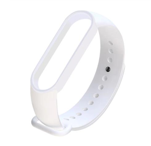 Сменный ремешок на фитнес - трекер Xiaomi Mi Band 5/6 ( Белый )