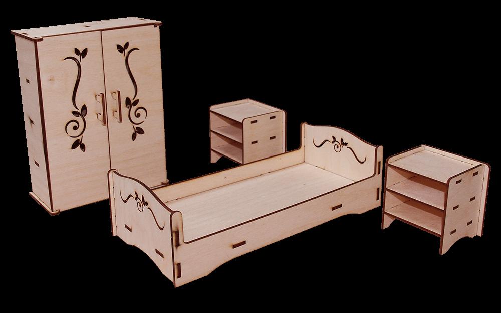 Спальня - Мебель для кукол до 30см