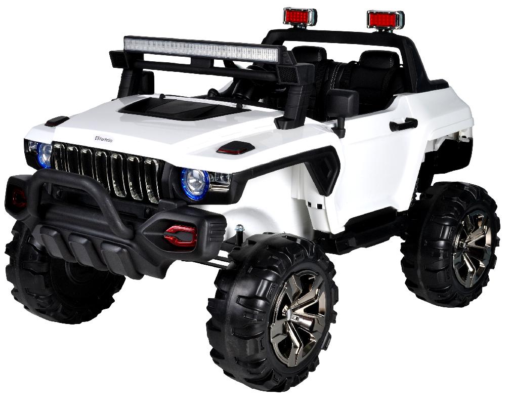 Детский электромобиль (2020) DG123 (12V, EVA, экокожа) Белый