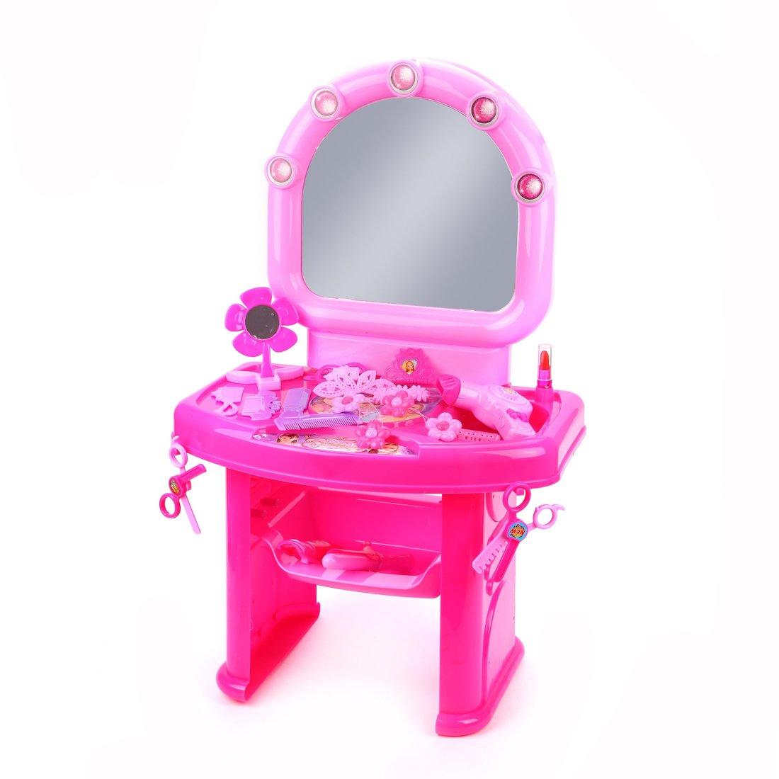 ДЕФЕКТ УПАКОВКИ  Набор Парикмахер, столик с зеркалом, набор предметов для парикмахера.