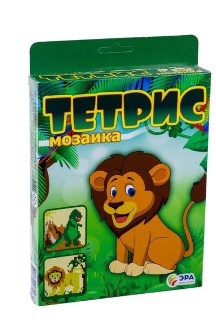 """Тетрис-мозаика """"Динозавр и лев"""""""
