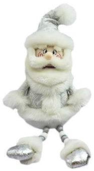 Кукла Дед Мороз 45 см, серебро