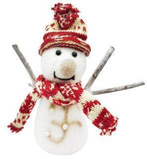 Фигурка Снеговик в красном 19*7*15 см