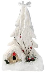 Фигурка Снежный городок 25 см, мех (пенопласт)