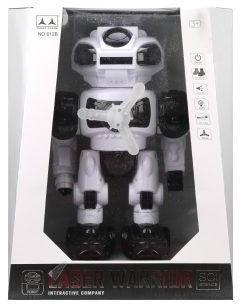 Робот эл., свет, звук, стреляет мягкими дисками 8шт., эл.пит.АА*4шт.не вх.в комплект