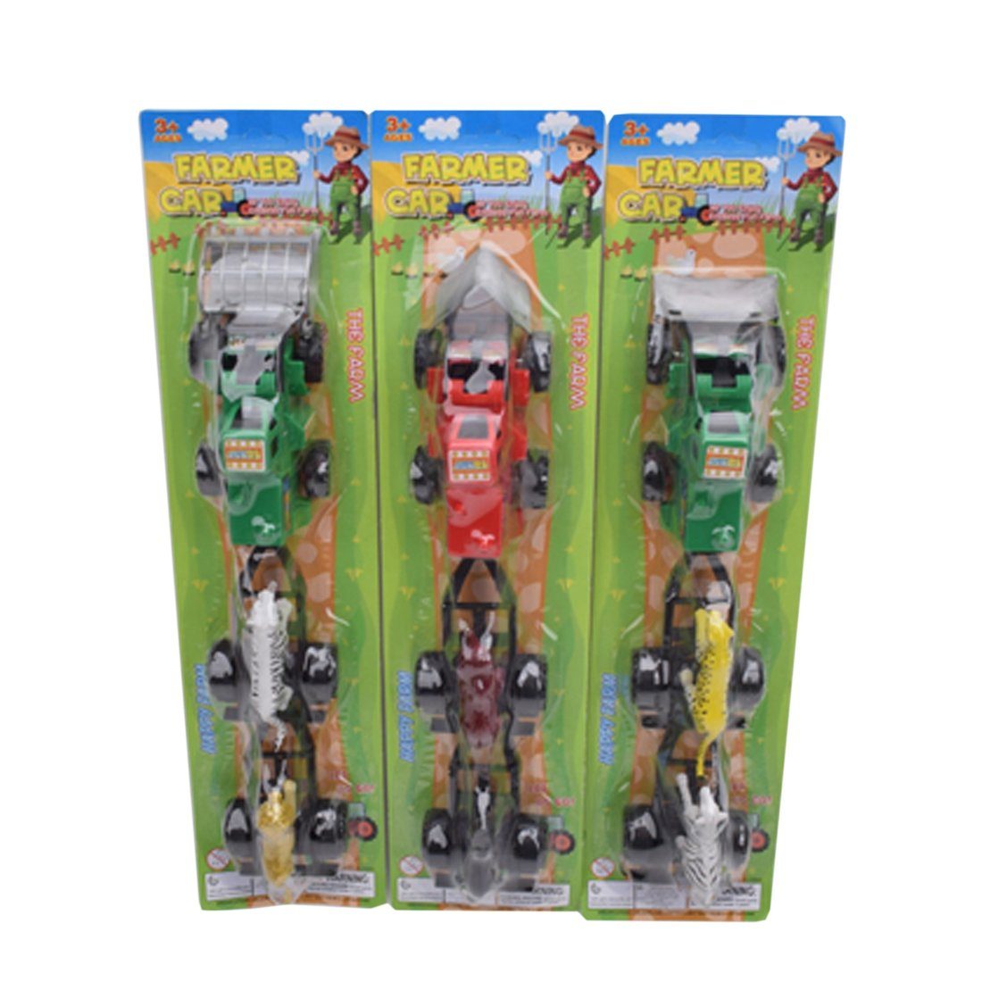 Игр.набор Фермер, в комплекте: трактор инерц. с прицепом, фигурки 2шт., блистер
