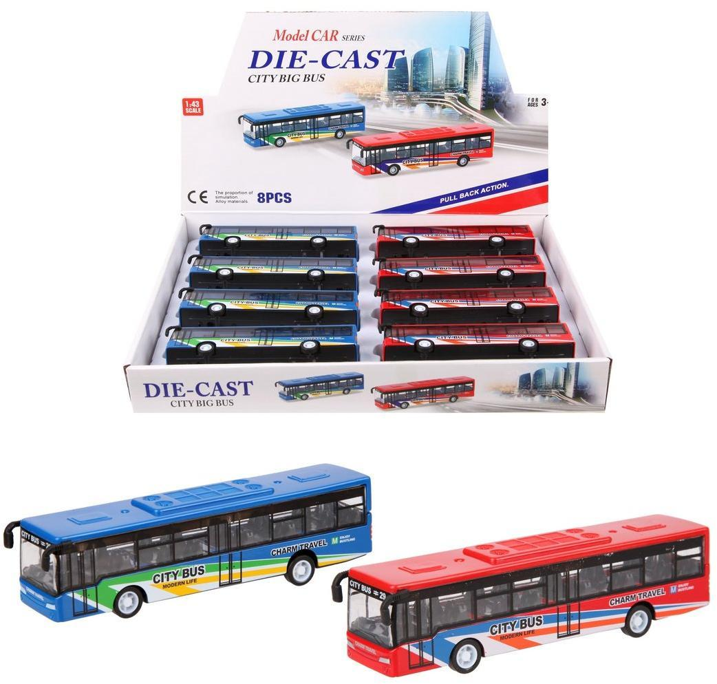 Автобус Городской металл., инерц., в ассортименте