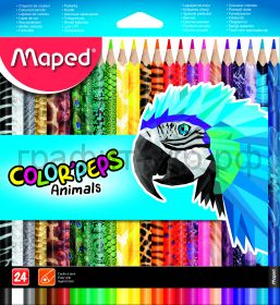 Карандаши цв.24цв.Maped Colotpeps Animals с декором 832224