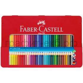 Карандаши цв.36цв.Faber-Castell Grip акварельный эффект металл.коробка 112435