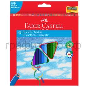 Карандаши цв.48цв.Faber-Castell ECO трехгранные 120548