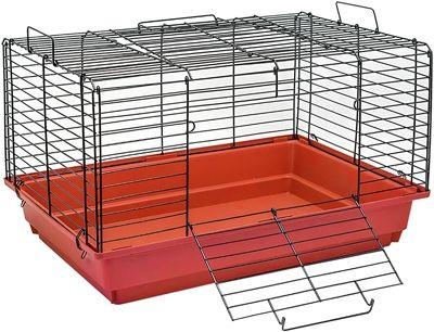 Клетка Дарэлл для кроликов и морских свинок Кролик №2 чёрная складная 58х40х36см