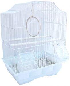 Клетка №1  для птиц фигурная укомплектованная 30х23х39см