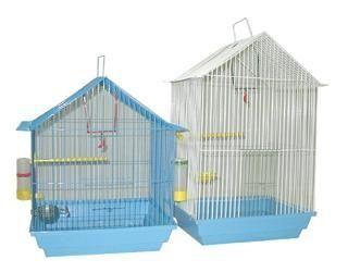 Клетка Зоомарк для птиц большая домик (комплект) 35х28х55см