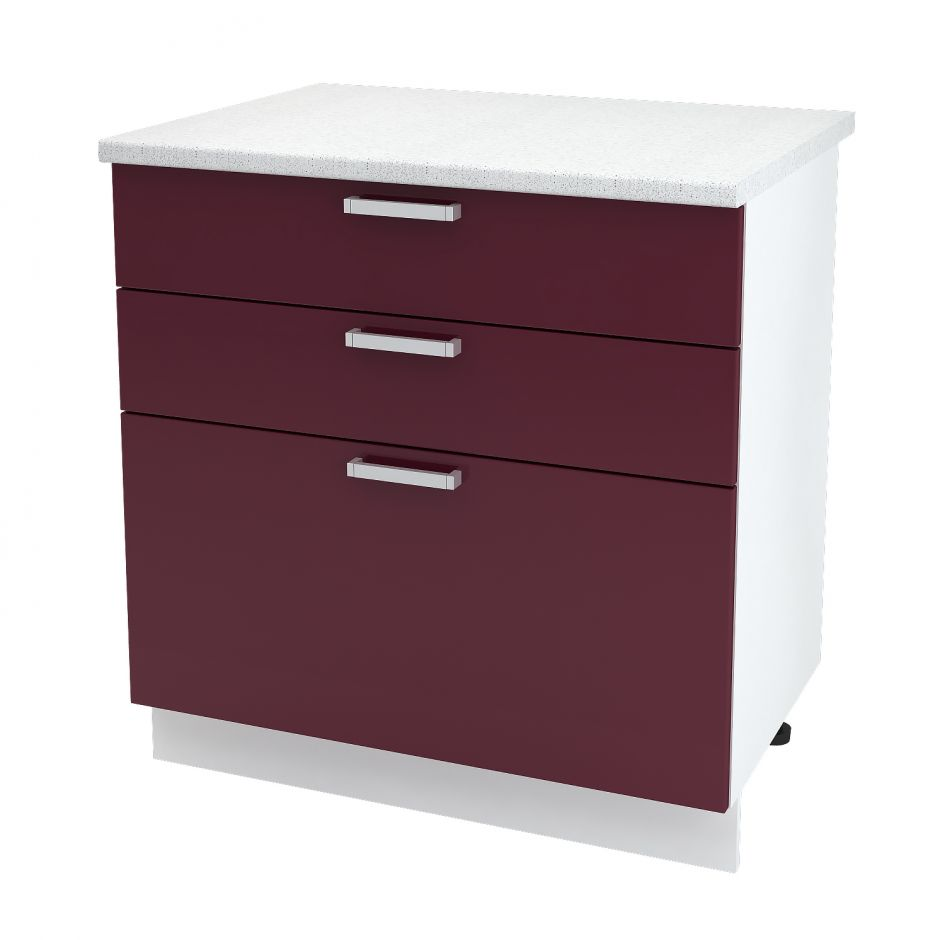 Шкаф нижний с 3 ящиками Дина ШН3Я 800