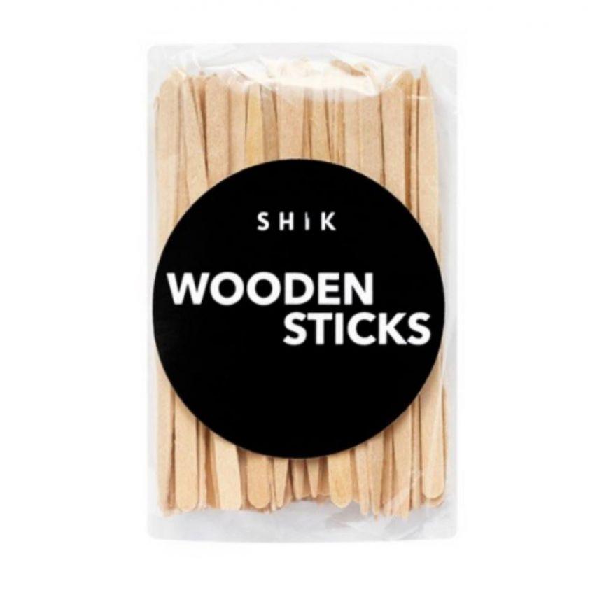 Деревянные шпатели для нанесения воска Wooden sticks SHIK