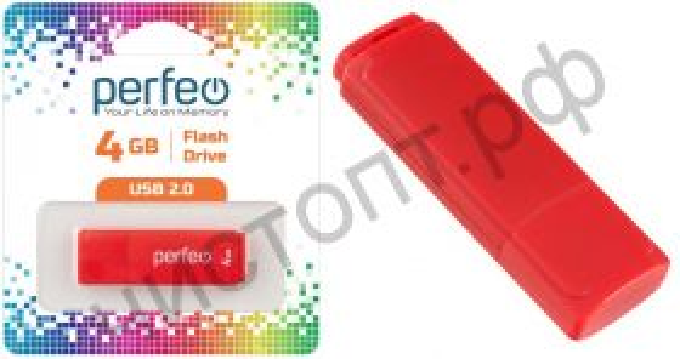 флэш-карта Perfeo 4GB C04 Red