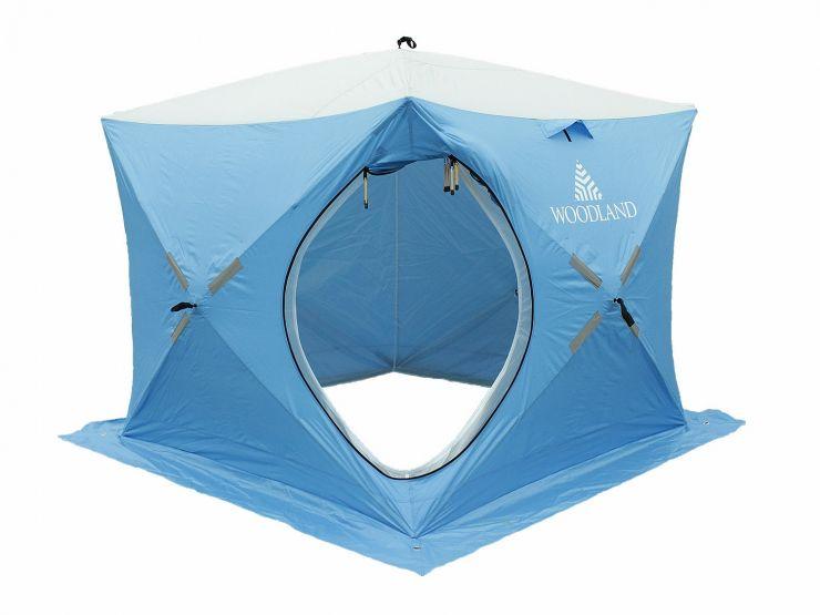 Палатка зимняя WoodLand ICE FISH DOUBLE 205*205*190 синяя