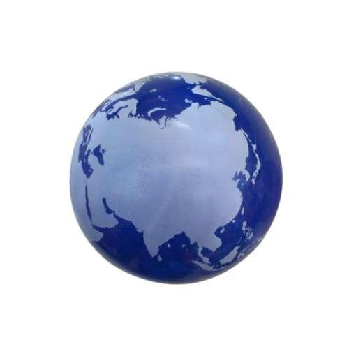 Мяч ПВХ 22 см, 60 гр, глобус, принт