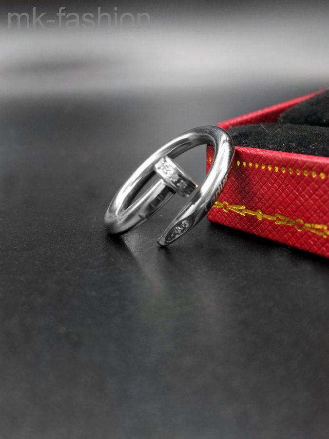 Cartier кольцо гвоздь SILVER фианит