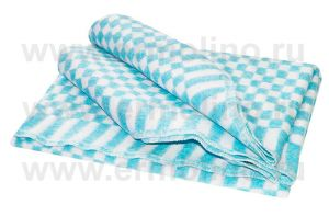 Бирюзовое Мелкая Клетка 5772В  205х140 75% х/б +25% ПАН Байковое  Ермолино одеяло