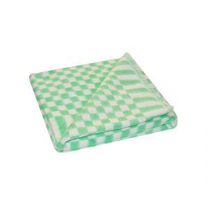 Зеленое Мелкая Клетка 5772В 205х140 75% х/б +25% ПАН Байковое  Ермолино одеяло