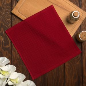 Полотенце вафельное Элиза 055 30х30 см, красный, хлопок 100%, 200г/м2   4777529