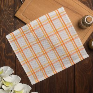Полотенце вафельное Пальмира 020 30х30 см, оранжевый, хлопок 100%, 200г/м2 4777526
