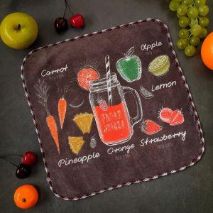 """Полотенце микрофибра Доляна """"Fresh juice"""" 30х30 см, п/э 200 гр/м2   3919554"""