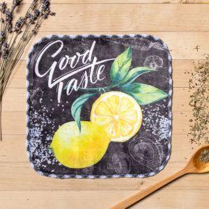 Полотенце «Лимон», 20 ? 20 см, микрофибра, 400 г/м?