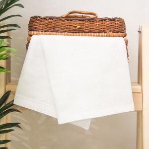"""Полотенце вафельное однотонное """"Доляна"""", цвет белый, 45х60± 3 см"""