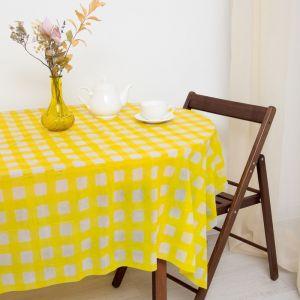 Скатерть для дачи Хозяюшка Клетка, цвет жёлтый 160?160 см