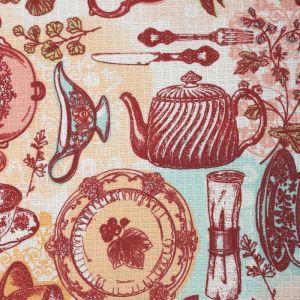 Скатерть Доляна «Чайные традиции», 70 ? 70 см, 100%-ный хлопок, вафельное полотно, 162 г/м?