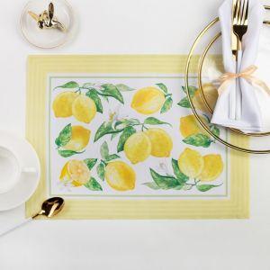 "Салфетка на стол ""Лимонная экзотика"" 30 х 40 см, 100 % п/э, оксфорд 420 г/м2"