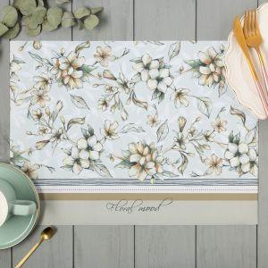 "Салфетки на стол ""Floral mood"" 30х40см, 100% п/э, оксфорд 420 г/м2   4652038"