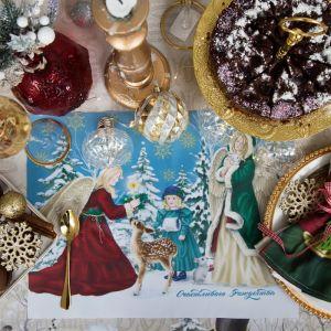 """Салфетка на стол """"Счастливого Рождества"""" 30х40см, 100% п/э, оксфорд 420 г/м3   4469471"""