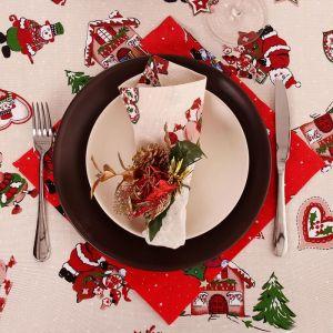 """Салфетка """"Доляна"""" Рождественские каникулы 30х30 см, 100% хлопок, рогожка, 164 г/м2"""
