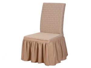 """Комплект чехлов""""KARTEKS"""" на стулья КПС-6, 6 шт.,Паркет 02-A.Kahve"""
