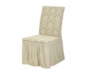 Набор чехлов для стульев 6 шт с оборкой ,KAR 007-01 Krem