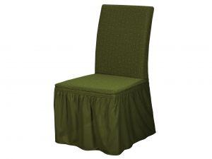 Набор чехлов для стульев 6 шт с оборкой ,KAR 005-06-Yesil