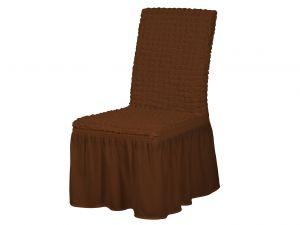 Чехол на стул с оборкой,Шоколад