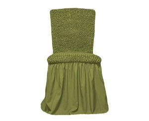 Чехол на стул с оборкой,Молодая зелень